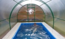 Пошаговая инструкция по самостоятельному возведению каркасного бассейна в теплице из поликарбоната