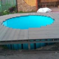 Пошаговая инструкция по изготовлению подиума для бассейна из дерева