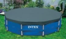 Обзор тентов для бассейна компании Intex: формы, габариты продукции, стоимость, мнения пользователей