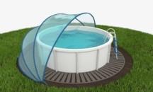 Виды навесов для каркасных бассейнов, как выбрать и можно ли сделать своими руками