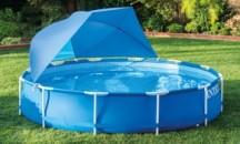 Какие бывают крышки для каркасного бассейна, как сделать самостоятельно?