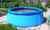Инструкция, как правильно надуть и установить надувной бассейн
