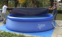 Несложная инструкция, как правильно натянуть тент на бассейн