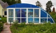 Назначение, виды павильонов для бассейна из поликарбоната, технология изготовления своими руками