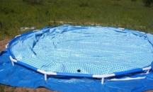 Какими способами и чем можно заклеить каркасный бассейн Bestway?